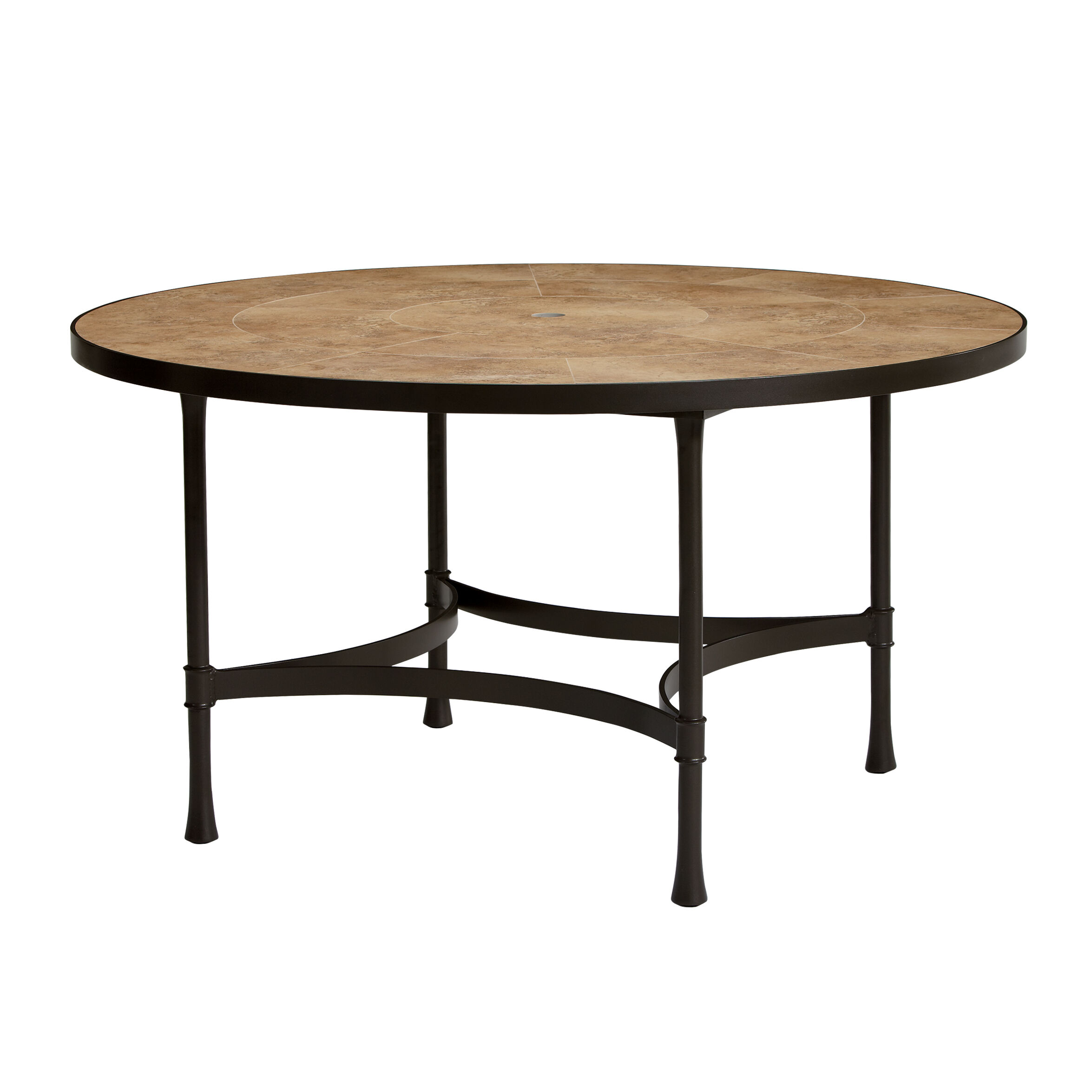 Biscayne Round Dining Table With Light Porcelain Top , , Large