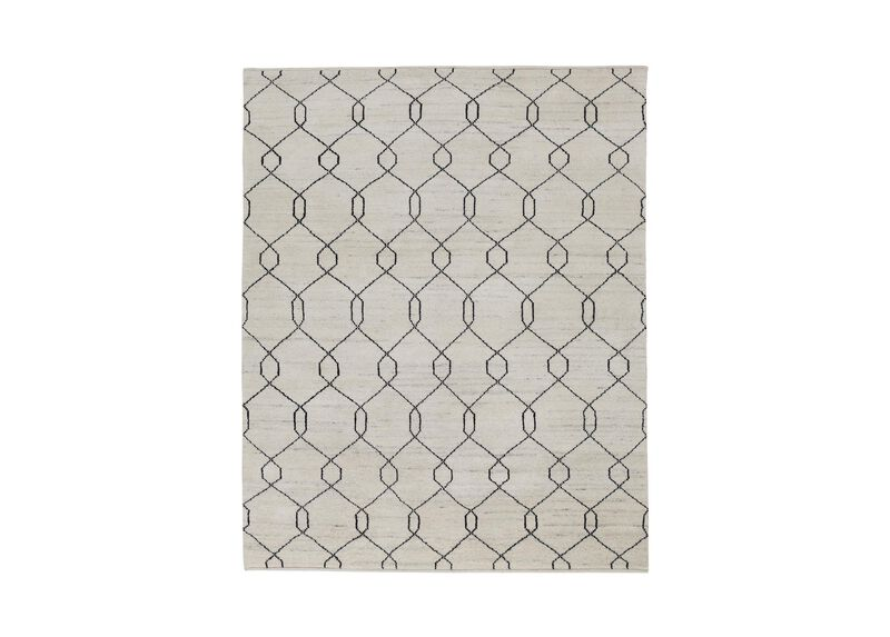 Tulu Trellis Rug, Natural/Black