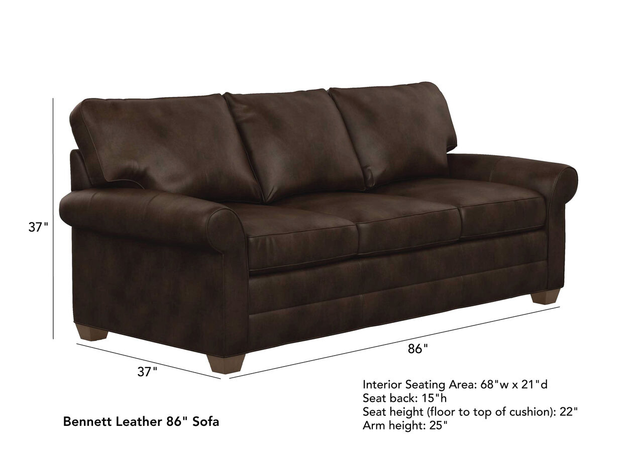 Outstanding Bennett Roll Arm Leather Sofa Quick Ship Sofas Bralicious Painted Fabric Chair Ideas Braliciousco