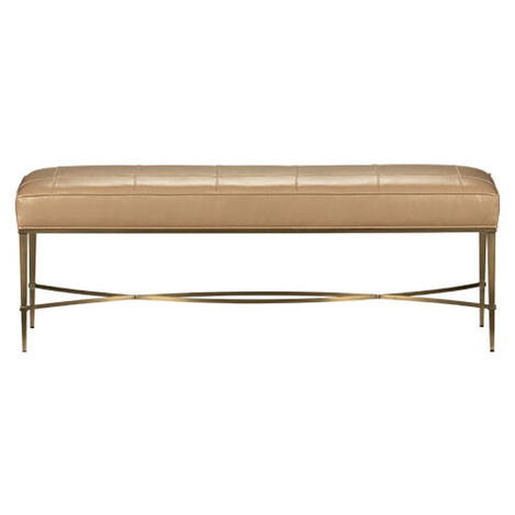 Sidney Upholstered Leather Metal Bench Product Tile Image 717185