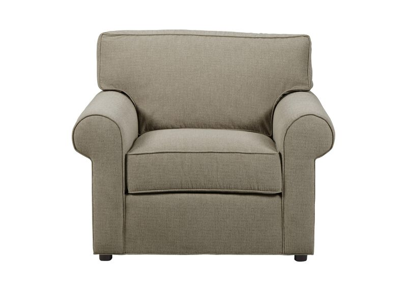 Retreat Roll-Arm Chair, Quick Ship , Palmer Fog (Q3055), chenille , large_gray