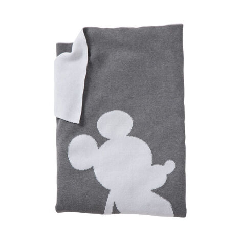 Mickey Mouse Mr. Mouse Stroller Blanket, Mouse Grey ,  , large