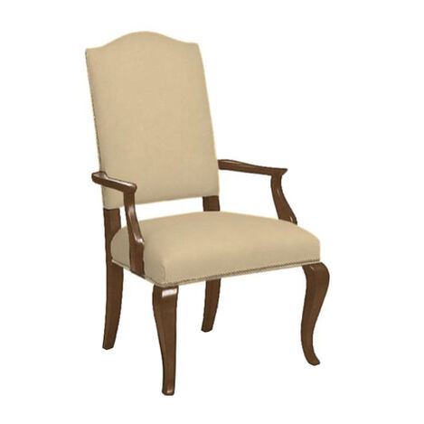 Hadley Cabriole-Leg Leather Armchair ,  , large