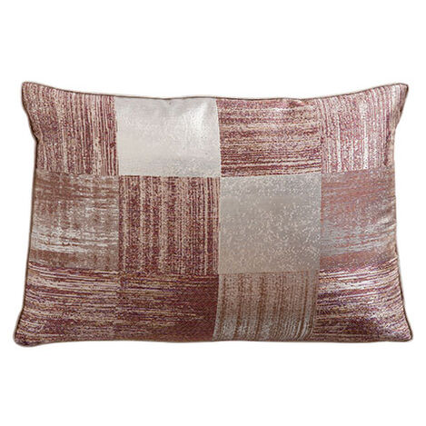 Metallic Check Lumbar Pillow ,  , large