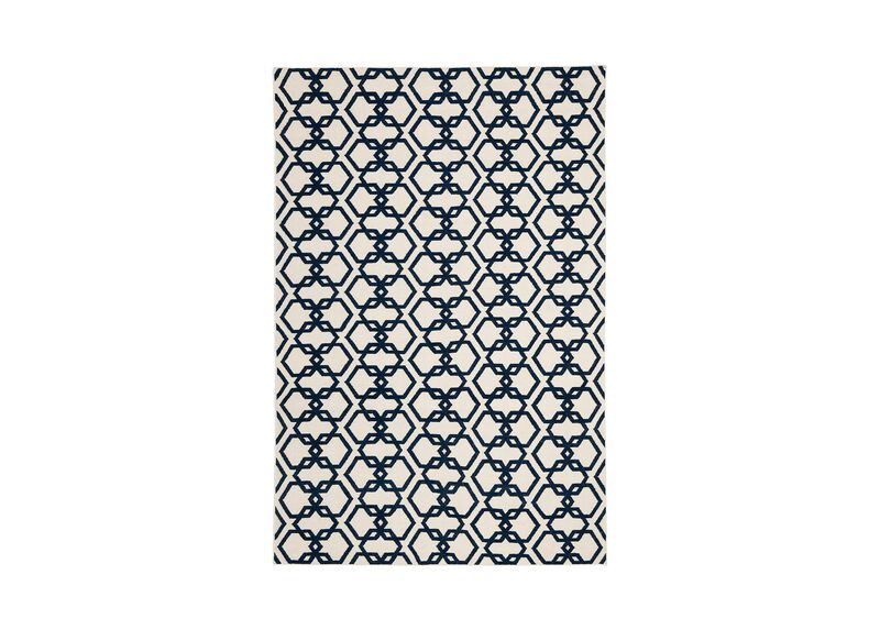 Interlock Rug, Ivory/Blue ,  , large_gray