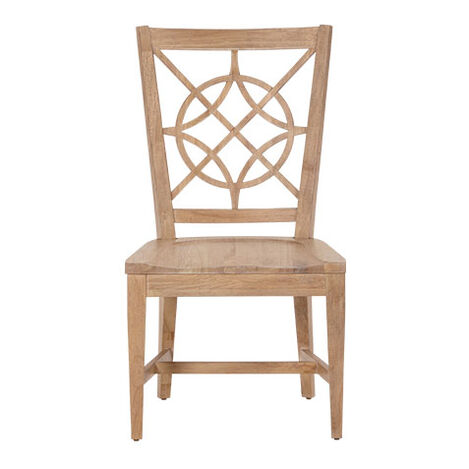 Radial Rose Wood-Seat Dining Side Chair Product Tile Image 136111   350