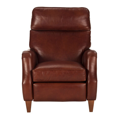 Aiden Leather Recliner, Old English/Saddle ,  , large
