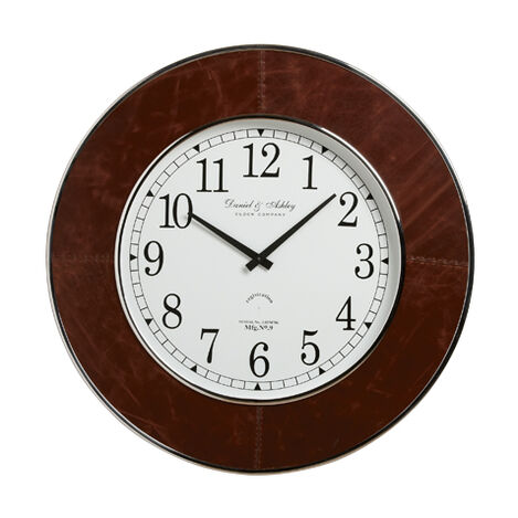 Leather Wall Clock ,  , large