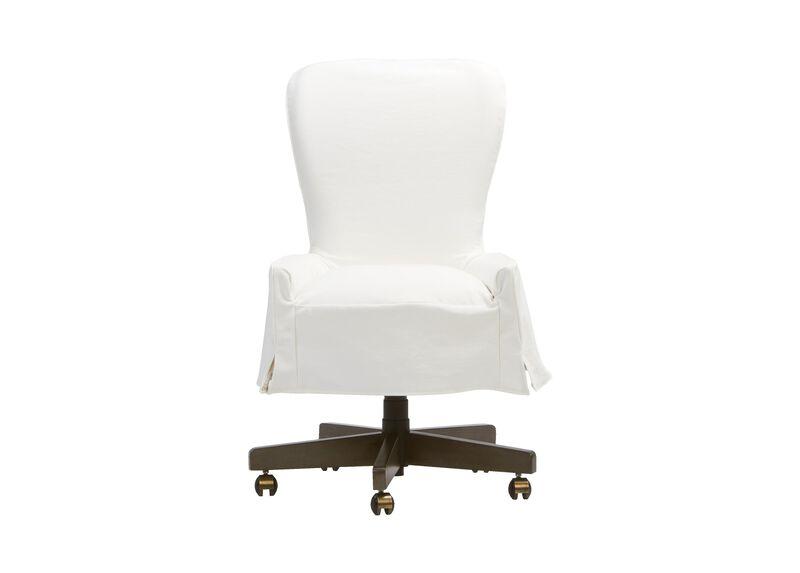 Bristol Slipcovered Desk Chair ,  , large_gray