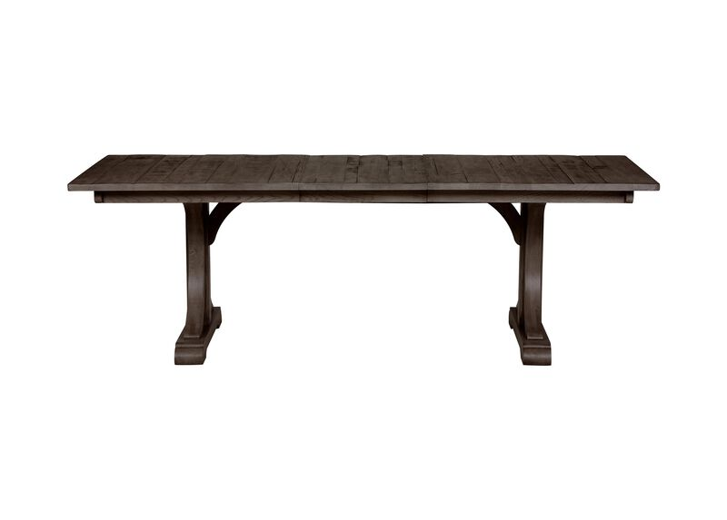 Corin Rough Sawn Trestle Extension Dining Table ,  , large_gray