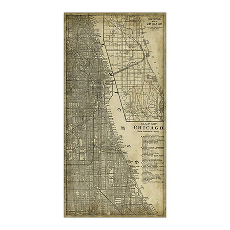 Chicago Map Vintage
