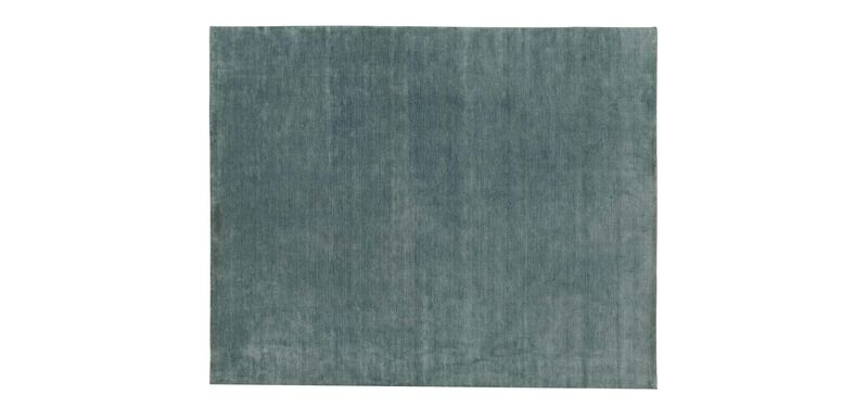 "Loomed Wool Rug 5'6"" x 9'9"", Seafoam"