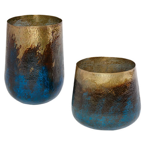 Patina Painted Vase ,  , large