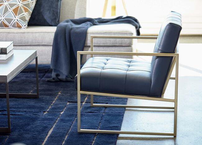 Super Mira Modern Leather And Metal Lounge Chair Ethan Allen Uwap Interior Chair Design Uwaporg