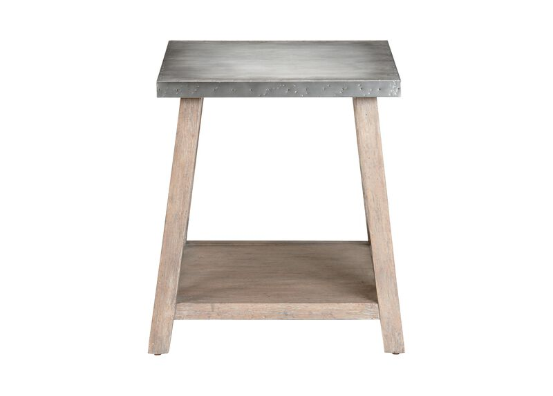 Bruckner Metal-Top End Table
