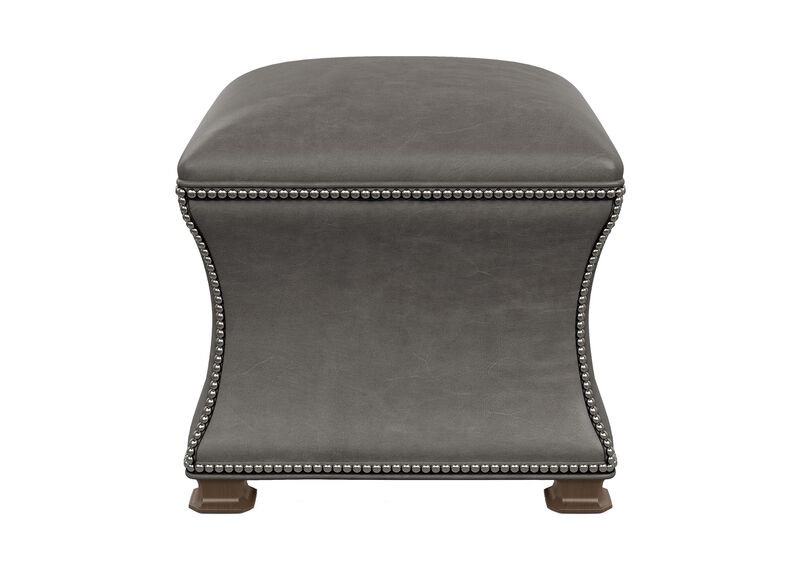 Corbin Leather Ottoman