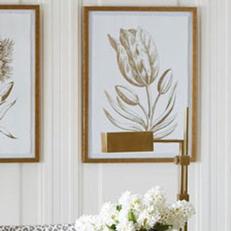 Gold Foil Floral I Product Tile Hover Image 073759A