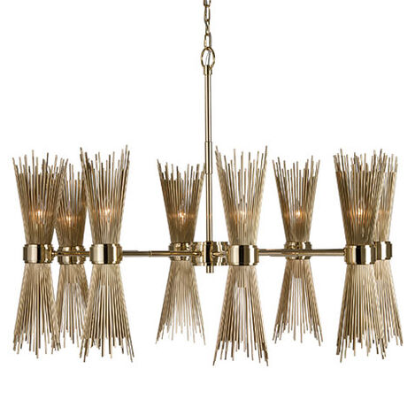 Skyla Brass Chandelier ,  , large