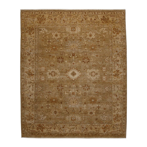 Oushak Rug, Light Gold/Ivory Product Tile Image 041518