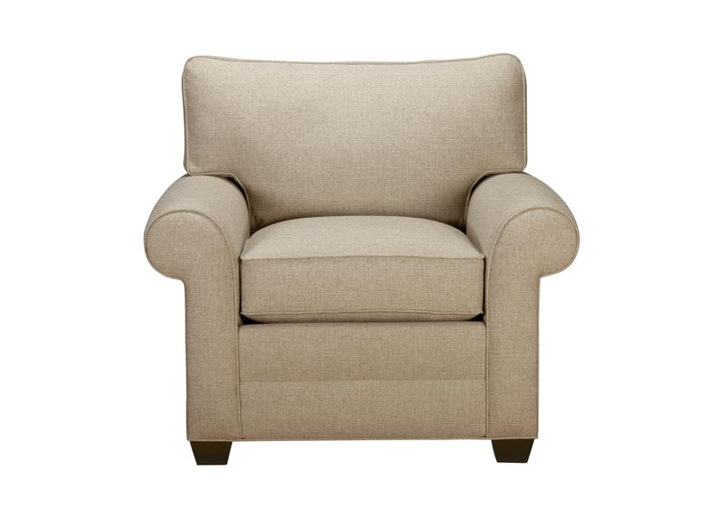 Bennett Roll-Arm Chair, Quick Ship , Palmer Oyster (Q3033), chenille , large_gray