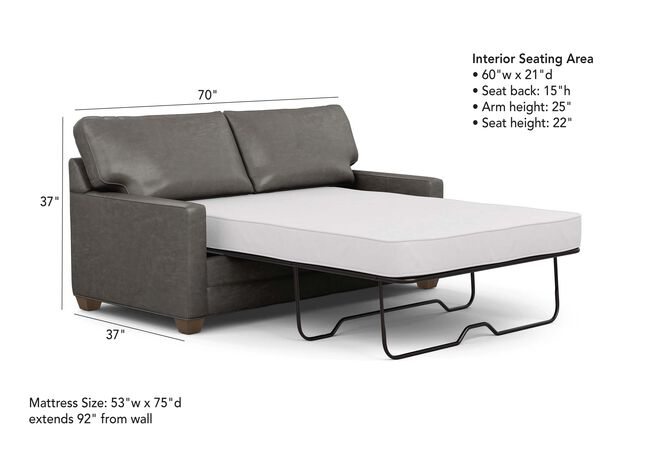 Bennett Track-Arm Leather Full Sleeper Sofa | The Bennett ...