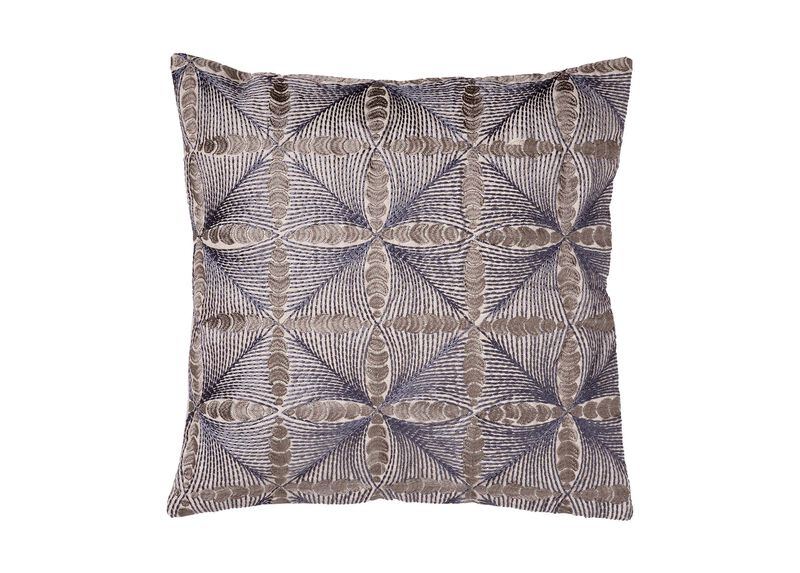 Embroidered Diamond Pillow