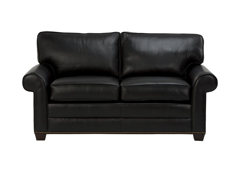 Bennett Roll-Arm Leather Sofa ,  , large_gray