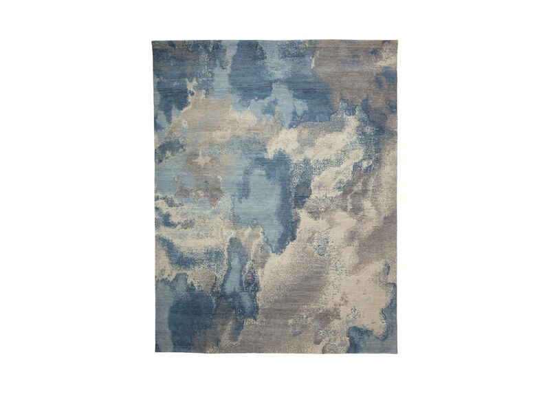Cloud, Multi/Blue 6 ft. x 9 ft.