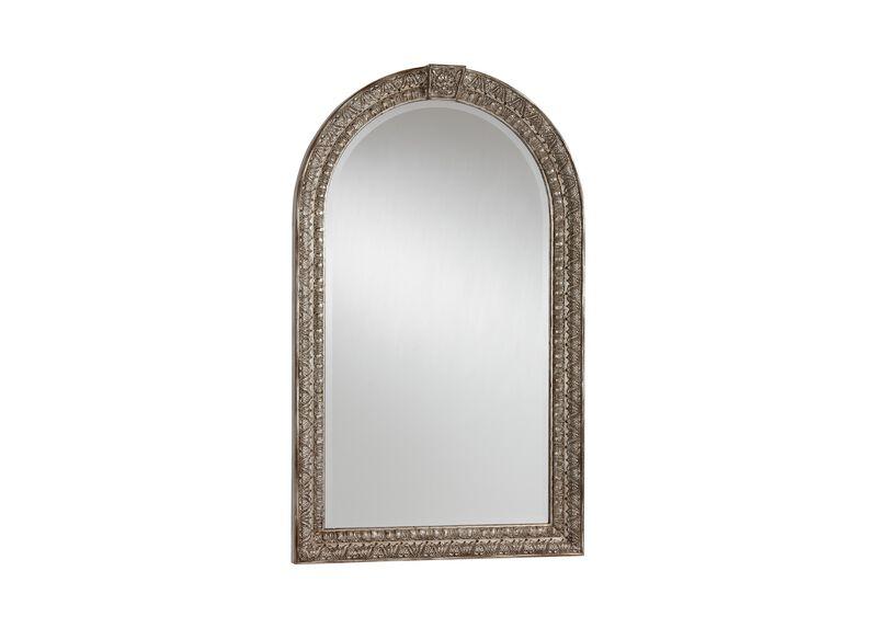 Antique Silver Arched Mirror