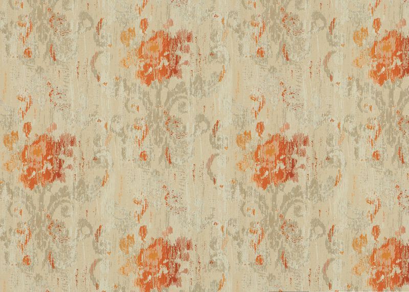 Aura Tangerine Fabric by the Yard