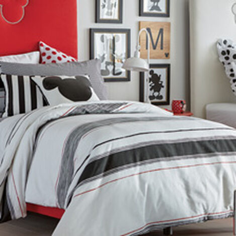 Mixed Stripe Duvet Cover, Mickey's Ears ,  , hover_image