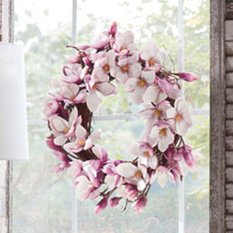 "24"" Magnolia Blossom Wreath Product Tile Hover Image 442219"