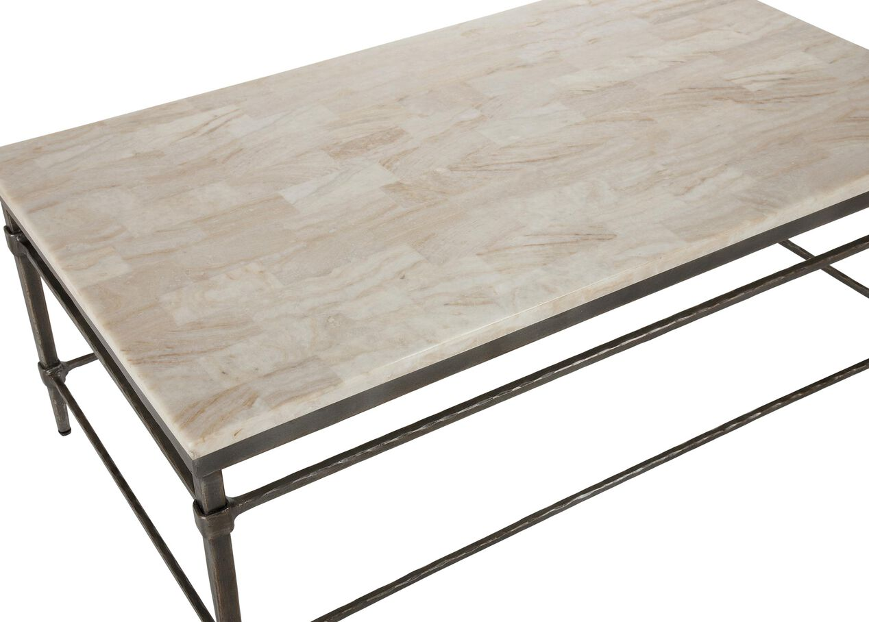 Vida stone top coffee table coffee tables for K furniture coffee table