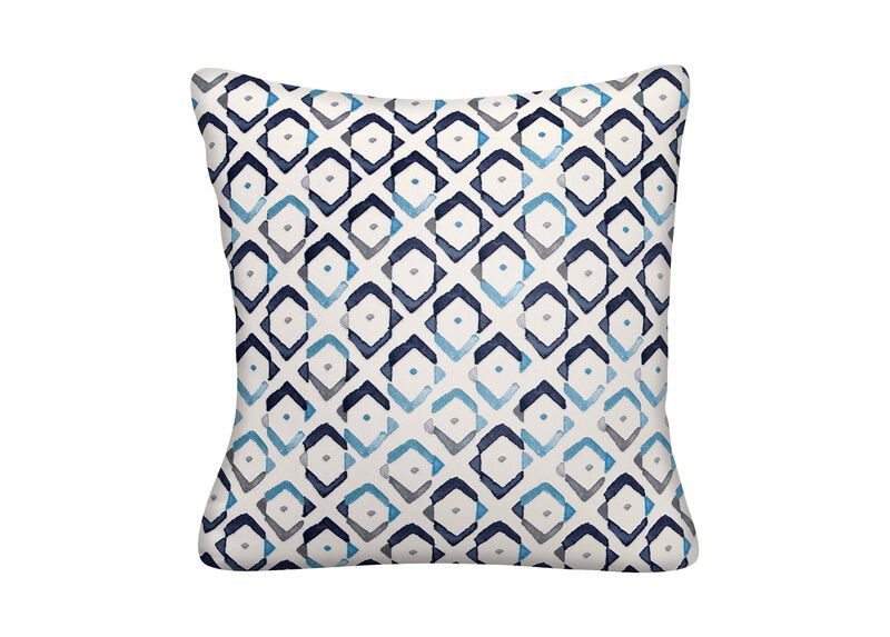 Collins Indigo Ikat Print Outdoor Throw Pillows Ethan Allen Mesmerizing Ethan Allen Decorative Pillows