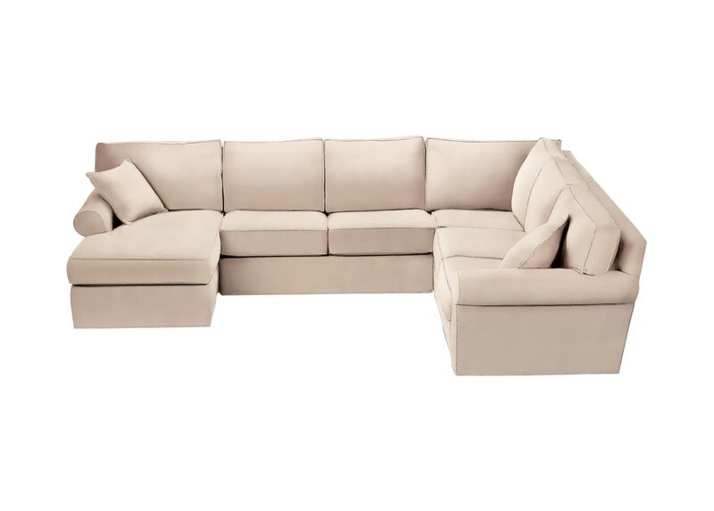 Retreat Roll-Arm Sectional with Chaise ,  , large_gray