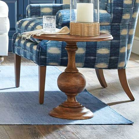 Turner Wood Pedestal Accent Table Product Tile Hover Image 421845