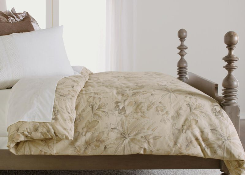 Solange Taupe Floral Duvet Cover ,  , large_gray