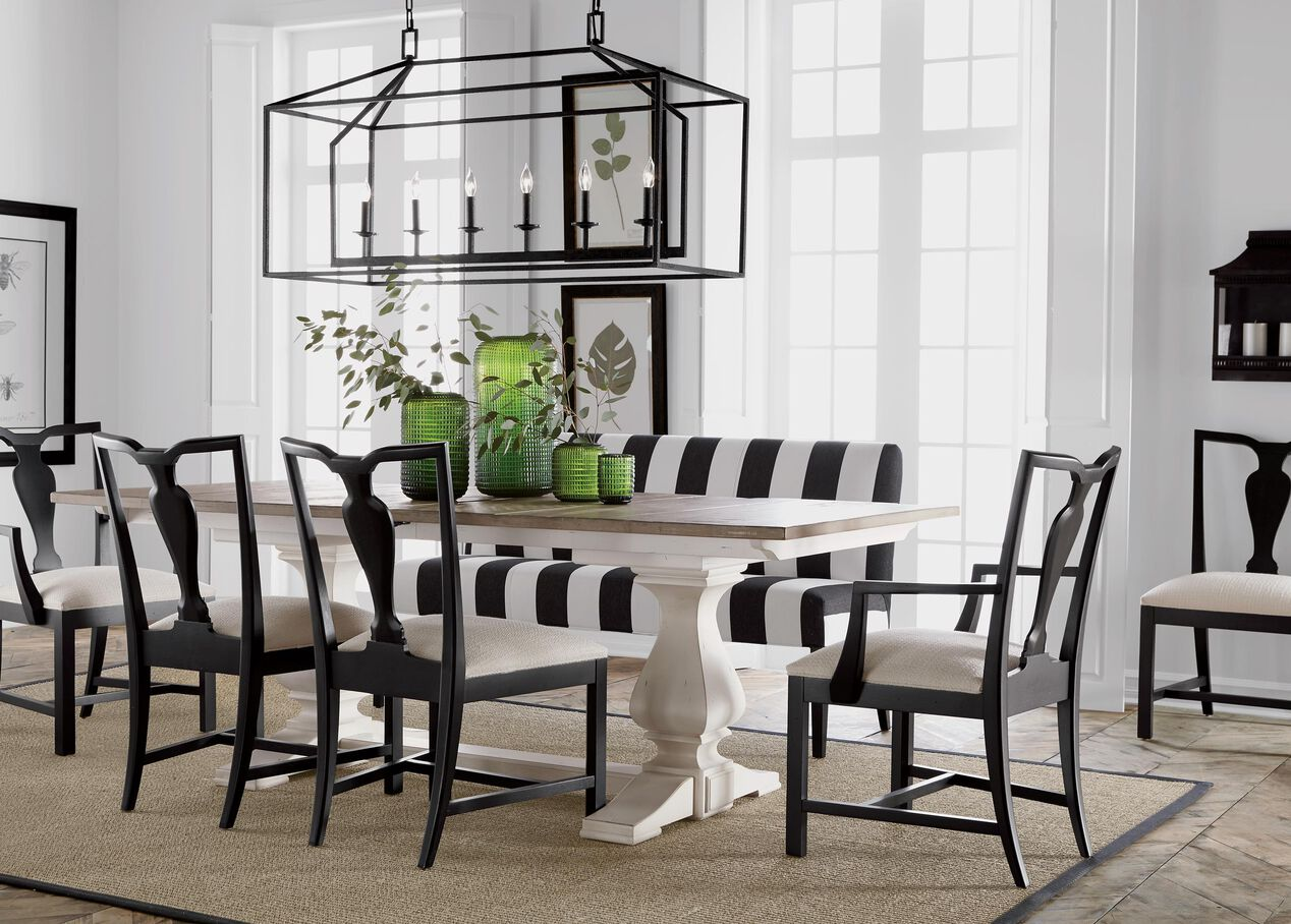 Cameron rustic dining table dining tables ethan allen for Dining room tables ethan allen