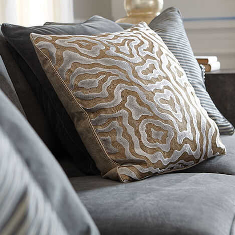 Woven Labyrinth Metallic Pillow Product Tile Hover Image 065628