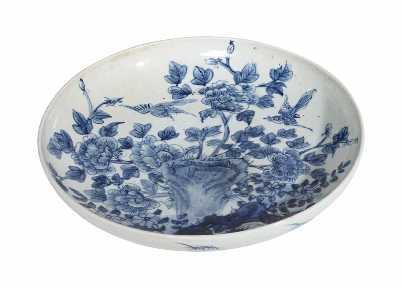 Yuan Floral Low Bowl ,  , large_gray