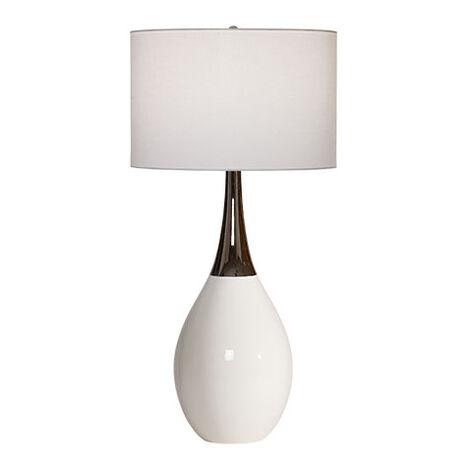 Capri White Ceramic Table Lamp Product Tile Image 096176