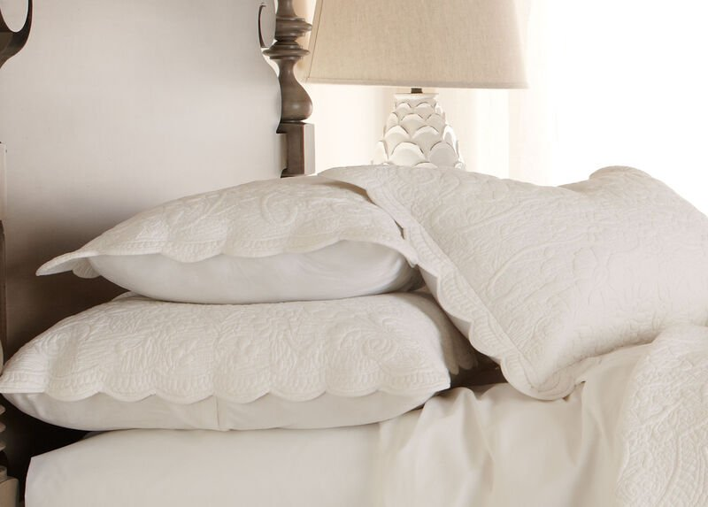 Dominique White King Sham ,  , large_gray