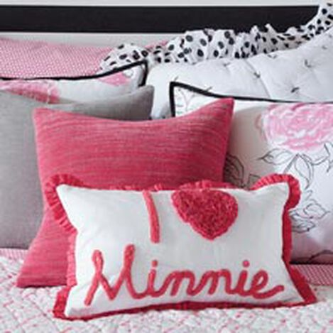 Really Ruffle Minnie Boudoir Pillow, Minnie Pink Product Tile Hover Image 035630   MPK
