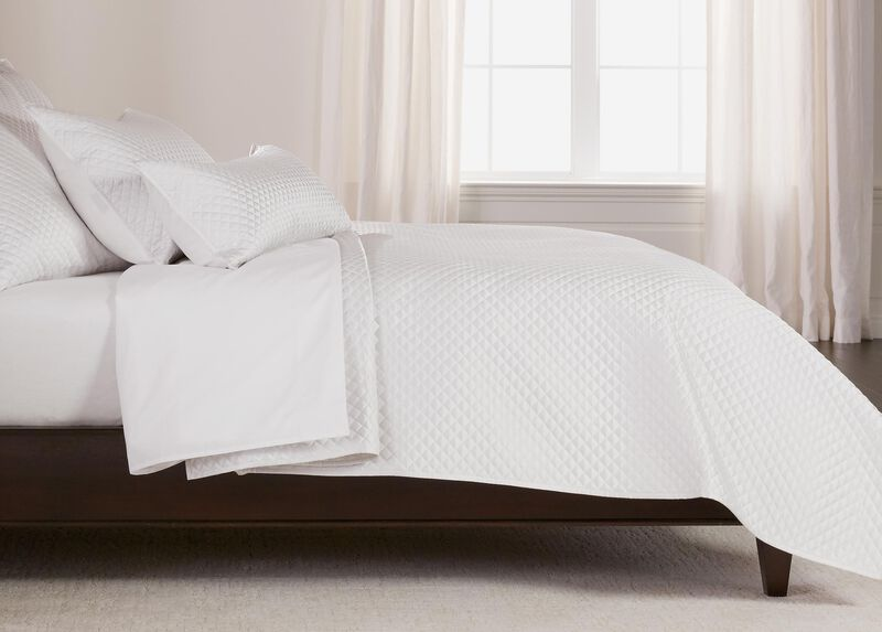 Salena Quilted Coverlet, Full/Queen Pearl