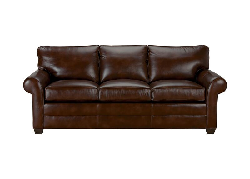 Bennett Roll-Arm Leather Sofa, Quick Ship