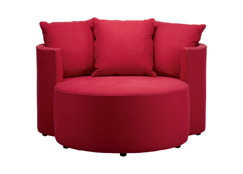 Mickey Mouse Club Chair and a Half, Quick Ship , Lucky Denim Red (D1200) , large_gray