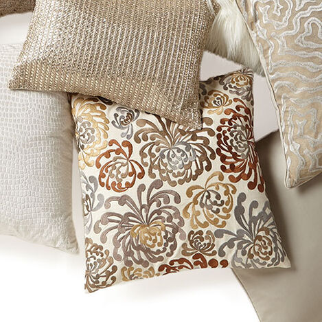 Blooms Embroidered Pillow Product Tile Hover Image 065756