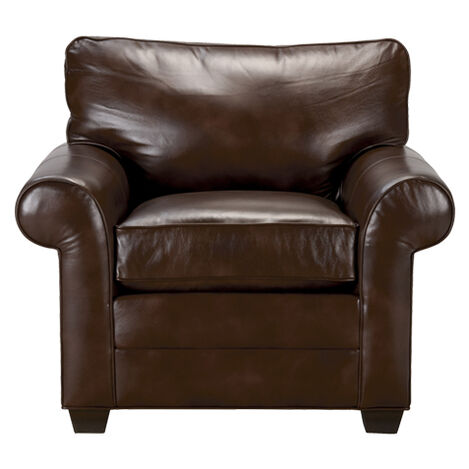 Bennett Roll-Arm Leather Chair, Quick Ship ,  , large