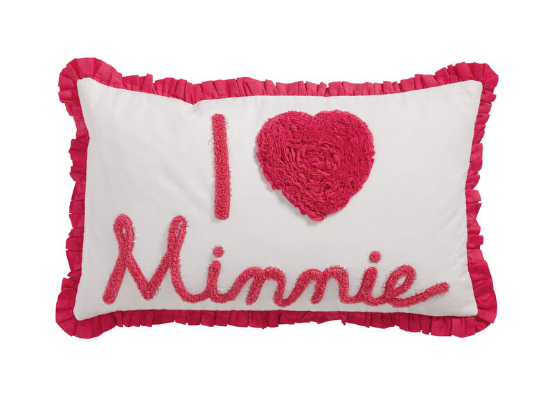 Really Ruffle Minnie Boudoir Pillow, Minnie Pink