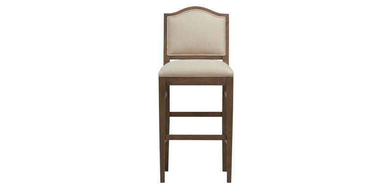 Hayden Barstool, Arched Top and Tapered Leg